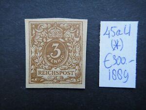 Germany-1889-Stamp-MINT-Reichspost-Imperf-German-Deutschland