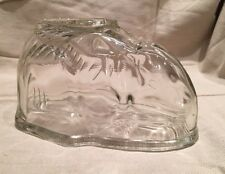 Vintage Retro Kitchenalia Glass Rabbit Jelly Mould with Flat Stand. 1 Pint Size