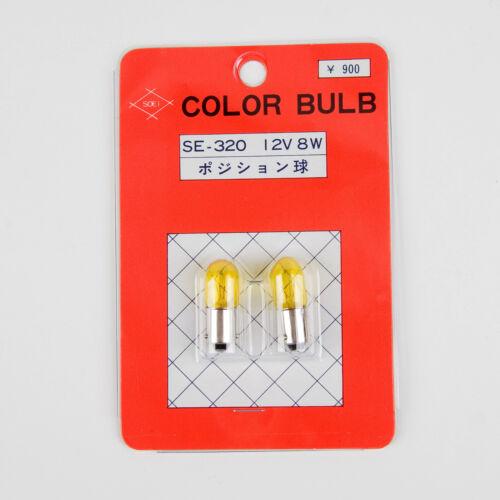 Made in Japan SOEI Universal City Light Bulbs 12V 8W Yellow QTY=2