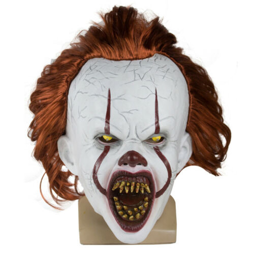 Stephen King/'s It Maske Horror Clown Joker Masken für Kinder Halloween mit Haar