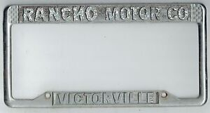 Rancho Motors Victorville >> Details About Victorville California Rancho Motor Co Chevrolet Vintage License Plate Frame
