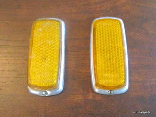 MERCEDES 230SL 250SL 280SL Side Mounted Light Reflector Amber colored.