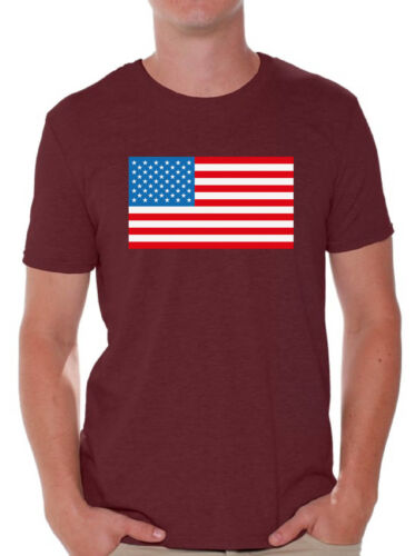 USA Flag Men/'s T shirt Tops Patriotic 4th of July Independence Day