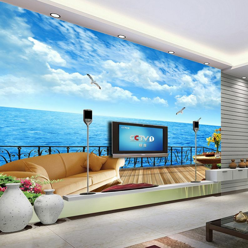 3D Wood Balcony Flying Seagull 35 Wall Paper Wall Print Decal Wall AJ Wall Paper