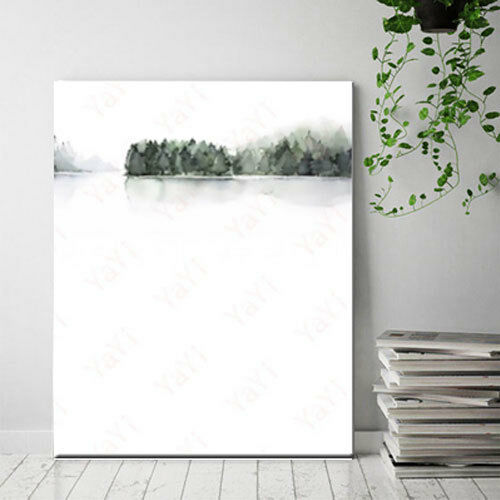 Minimalist Green Leaf Posters Prints Nordic Home Decor Wall Art Canvas Paintings