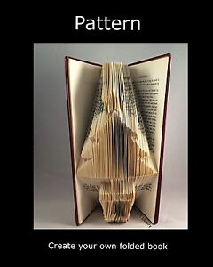Book Folding Pattern To Create Your Own Folded Book Art Christmas