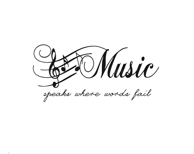 Music Notes Music speaks where words fail Wall Quotes Wall ...