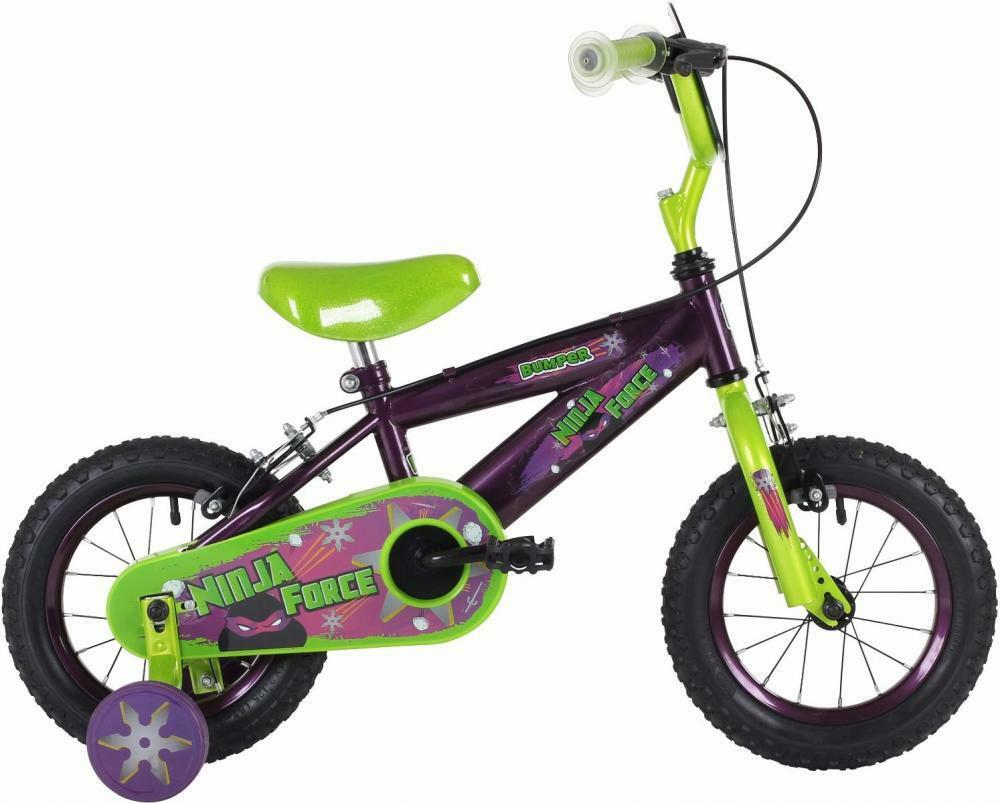 Bumper Ninja Force Kids Boys 12  Wheel Single Speed Pavement Bike Bicycle EM1505