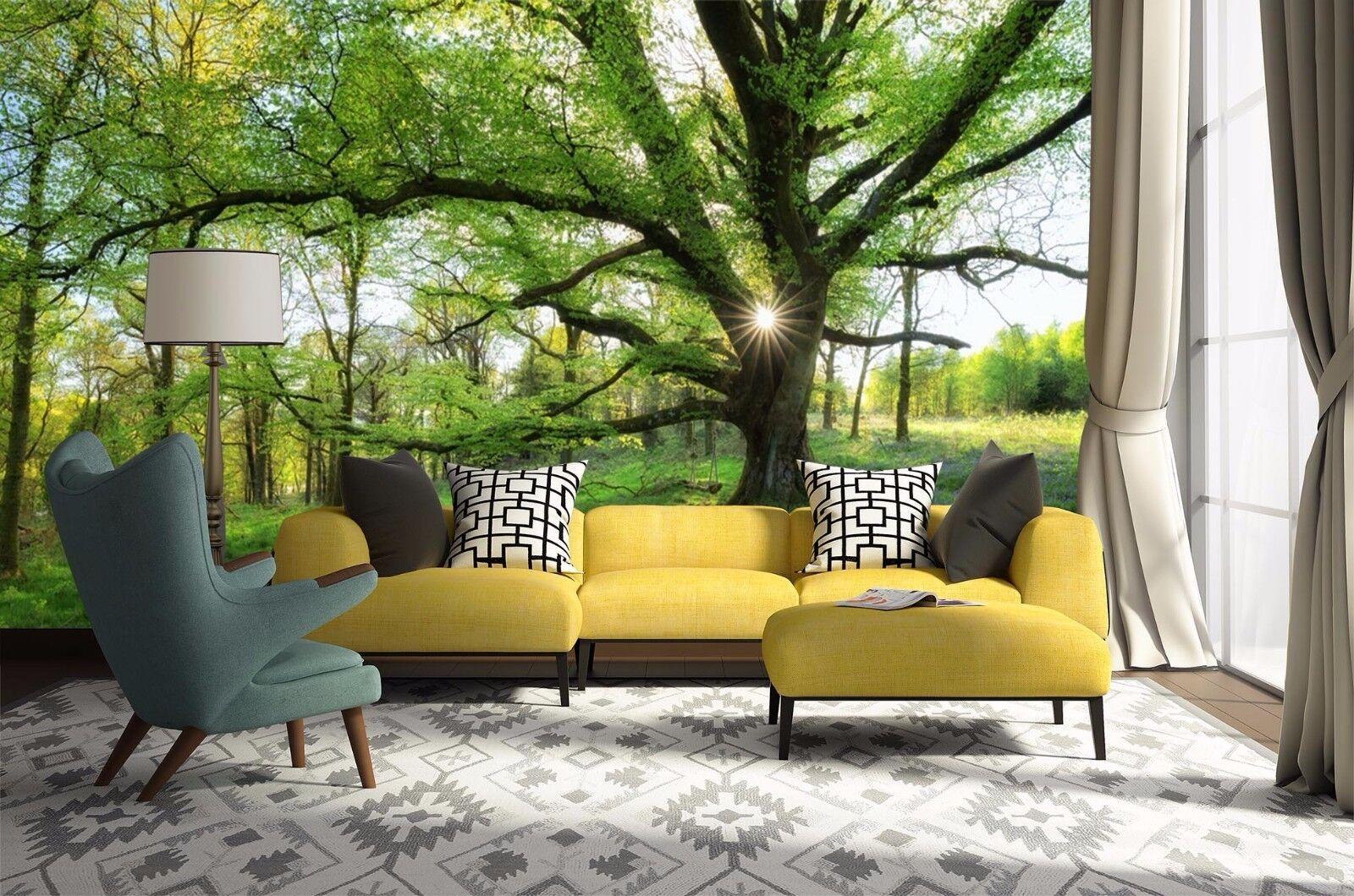 3D Baum Frühling Wiese 9473 Tapete Wandgemälde Tapeten Bild Familie DE Jenny   Meistverkaufte weltweit    Deutsche Outlets    Elegantes Aussehen