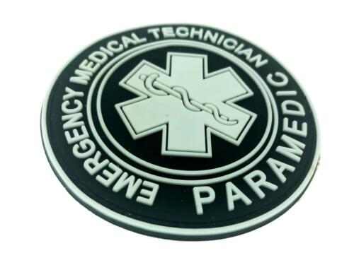 EMT Emergency Medical Technician Glow in the Dark Airsoft PVC Morale Patch