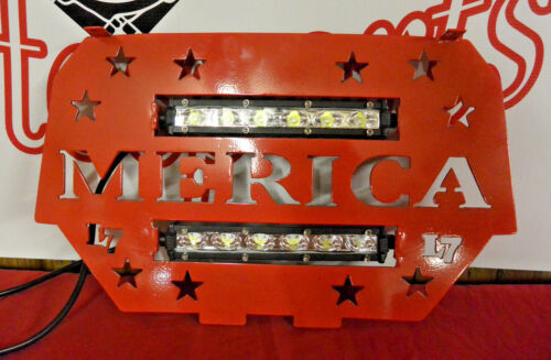 "Custom /""Merica/"" Red LED Light Grille Grill Polaris RZR 900 1000 XP 2014-2017"
