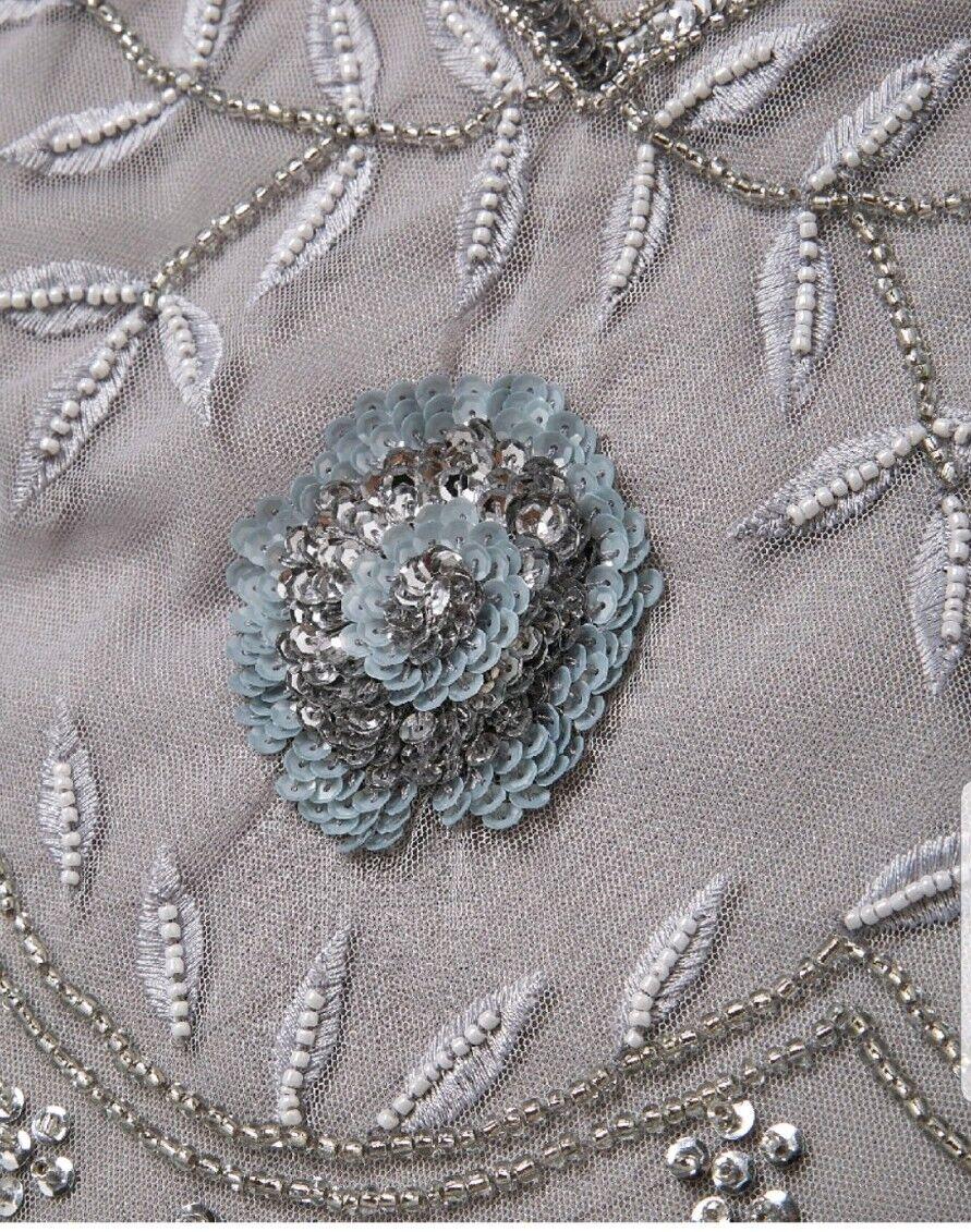 Capsula Capsula Capsula soft grigio con Perline Maxi Abito Taglia 16 52de61