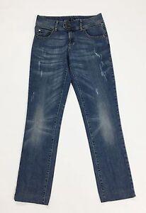 Oltre-jeans-donna-usato-slim-W28-tg-42-gamba-dritta-denim-boyfriend-blue-T1605