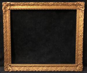 Antique Vintage Victorian Gilded Wood Gesso Frame Gold Gilt Oil Painting Frame