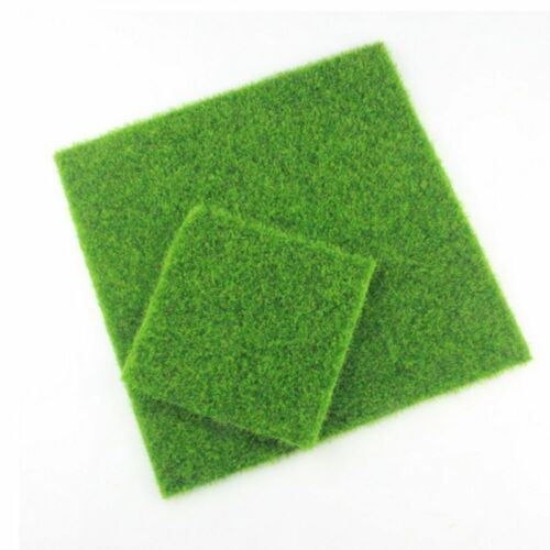 Artificial Grass Fake Lawn Miniature Fairy Garden Decoration Craft Make DIY15*15