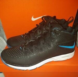 Nike Huarache 4 LAX Elite Turf Shoes Black Blue 807118 040 Men s ... 86905c5d1