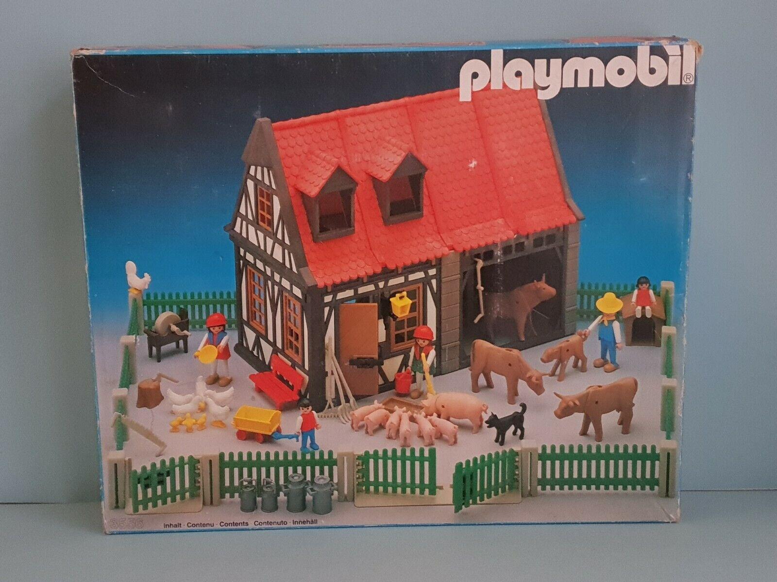 Playmobil 3556 Barn neuf dans sa boîte + Instructions vintage rare