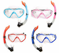 Childrens SILICONE Mask + Snorkel 2PC Diving Set - Junior Kids Dive Snorkelling
