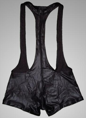Faux Leather Enhanced Pouch Wrestler Singlet Men/'s S//M//L//XL *HOT*