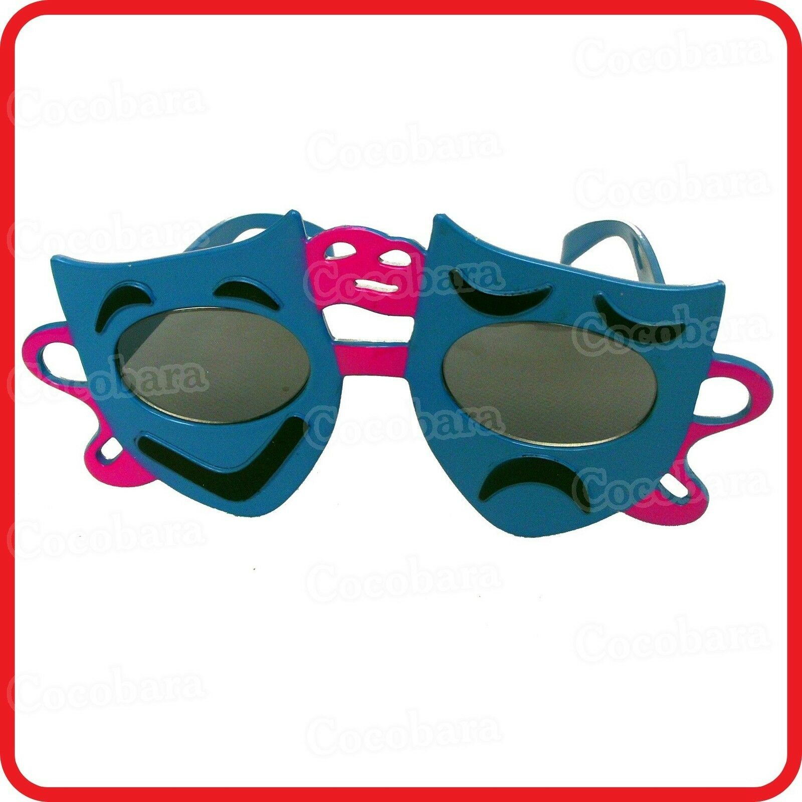 HAPPY SAD FROWNING CRYING SMILING LAUGHING FACE GLASSES/SUNGLASSES-COSTUME-PARTY