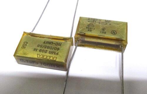 Confezione da 5 RIFA PMR209-M-610 100nf 100R 250V AC Condensatore Soppressione di rete 0.1uf