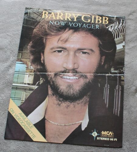Barry Gibb Now Voyager 1984 Bee Gees Canada MCA Home Video VCR Promo Poster VG
