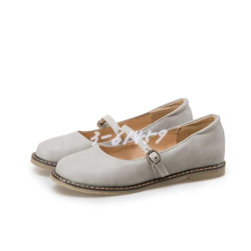Sweet Mary Janes Schuhe Damen Runde Zehe Loafers Halbschuhe Schnalle Gr34-43