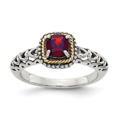 Damen Ring Granat Perlen in Silber 925 Granatring Sterlingsilber Qualität 8913//8