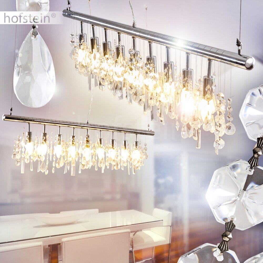 Edle Luxus Pendel Hänge Leuchte Kristall Ess Wohn Schlaf Zimmer Raum Beleuchtung