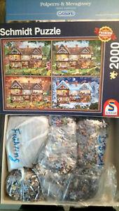 Schmidt Puzzle 4 x 500 Teile - Jahreszeiten Haus - zusammen 2000 Teile - Everswinkel, Deutschland - Schmidt Puzzle 4 x 500 Teile - Jahreszeiten Haus - zusammen 2000 Teile - Everswinkel, Deutschland