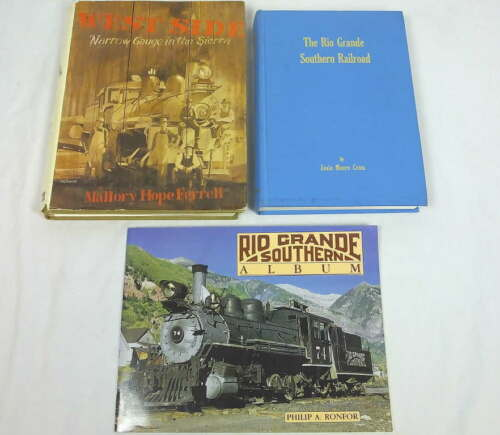 Lot 3 Narrow Gauge Railroad Train Books West Side Narrow Gauge in Sierra Nevadas