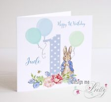 Item 2 PERSONALISED PETER RABBIT Birthday Card