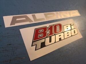 BMW-Alpina-B10-BITURBO-hinten-Schriftzug-Heckklappe-Rear-Emblem