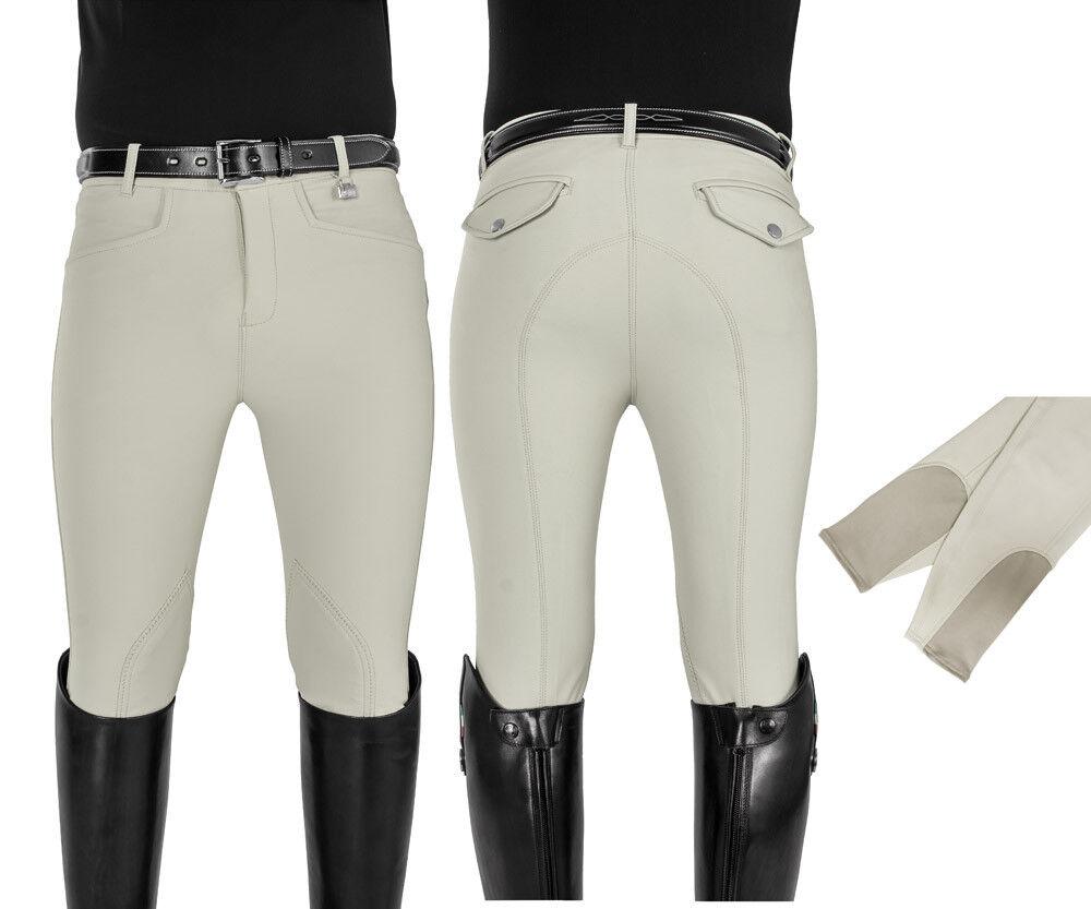 EQUESTRO Pantalones de hombre ajustado tejido técnico Terra dos tasche
