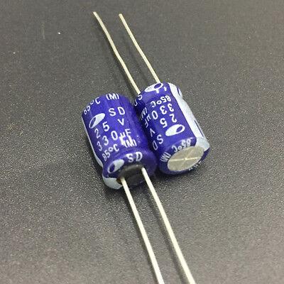 20pcs 25V 330uF 25V SAMWHA SD 8x12mm Electrolytic Capacitor