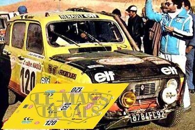 Calcas Renault 4L Rally Dakar 1980 120 4 L Slot decals Marreau