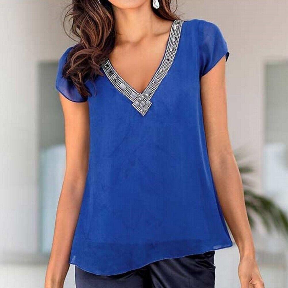 Designer-Blause mit Strass-Besatz von Ashley Brooke, Größe Größe Größe 38, royalblau 21003754 | Outlet Store  | Mittel Preis  | Elegante und robuste Verpackung  1f2c6a