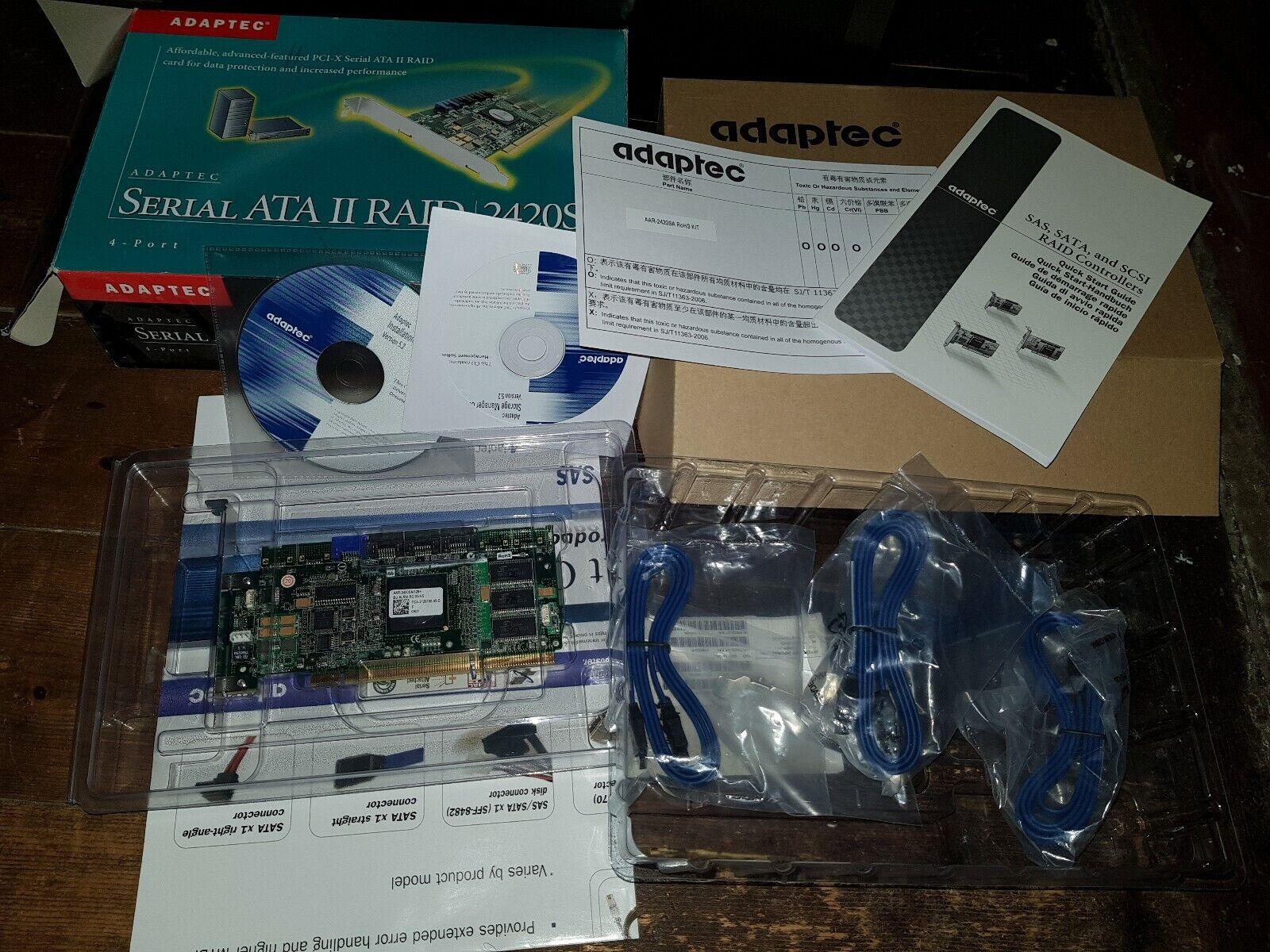 Adaptec Raid 2420SA new old stock ( AAR-2420SA/128+ )