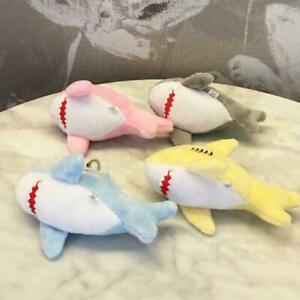 Soft-Shark-Keychain-Plush-Key-Chain-Stuffed-Mini-Ocean-Tiny-Animal-V2Y4