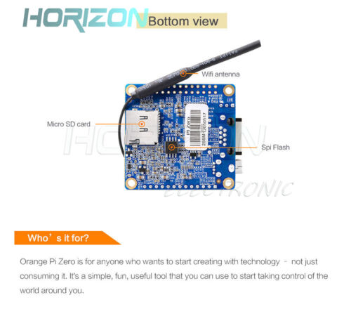 Orange Pi R1 Zero H2 Quad-Core Open Source 256MB DDR3 Development Board