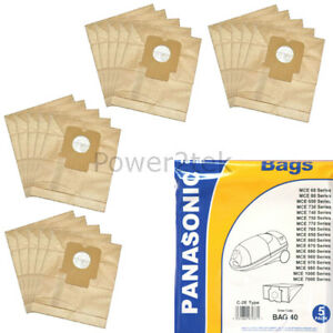 Pack Of 5 Dust Bags for Panasonic AMC8F96D1300 GOLDSTAR MC2700 C2E Type
