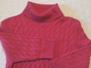 Mariele-Waithe-Women-039-s-Pink-100-Cashmere-Turtleneck-Sweater-Sz-XL-L