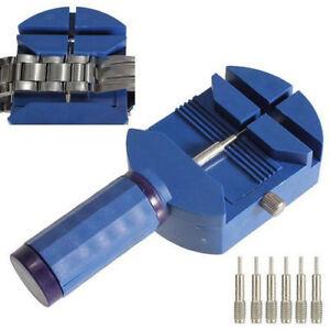 Stiftausdruecker-Armbandkuerzer-Uhren-Armband-Uhrmacher-Werkzeug-3-Ersatzstifte