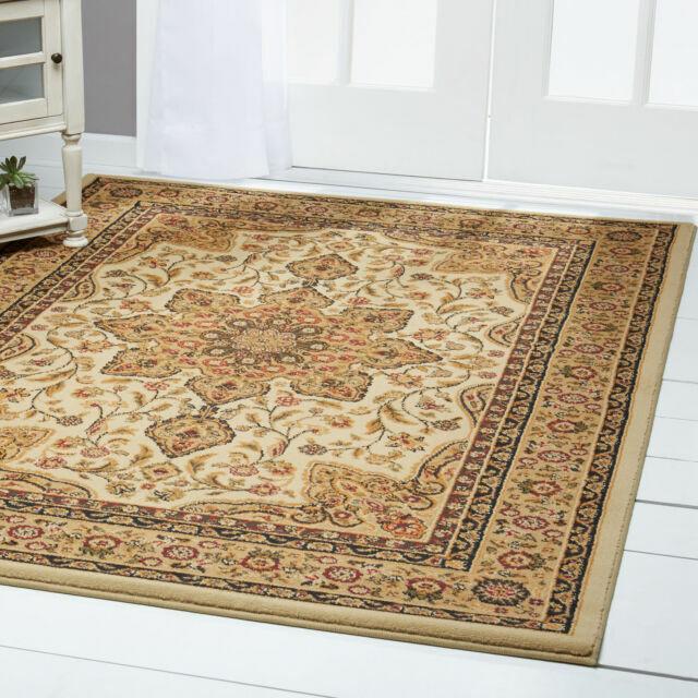 Sand Beige Oriental Carpet 4x6 Persian