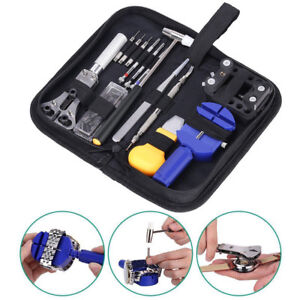 Watch-Repair-Tool-Kit-Opener-Link-Remover-Spring-Bar-Free-Hammer-Carry-Case-2018