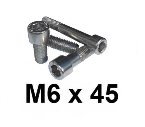 M6 x 45 Stainless Allen Bolt Cap Screw 6mm x 45mm Stainless Socket Cap x10