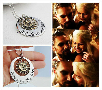 Game of Thrones My Sun And Stars Necklace Moon Of My Life Letters Necklace Gift