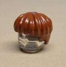 Brown, Black, Orange + Dark Brown NEW 40240 4x Lego Hair Pieces Male Bowl Cut