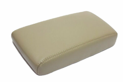 Fit 05-12 Nissan Pathfinder Beige Vinyl Leather Center Console Lid Armrest Cover