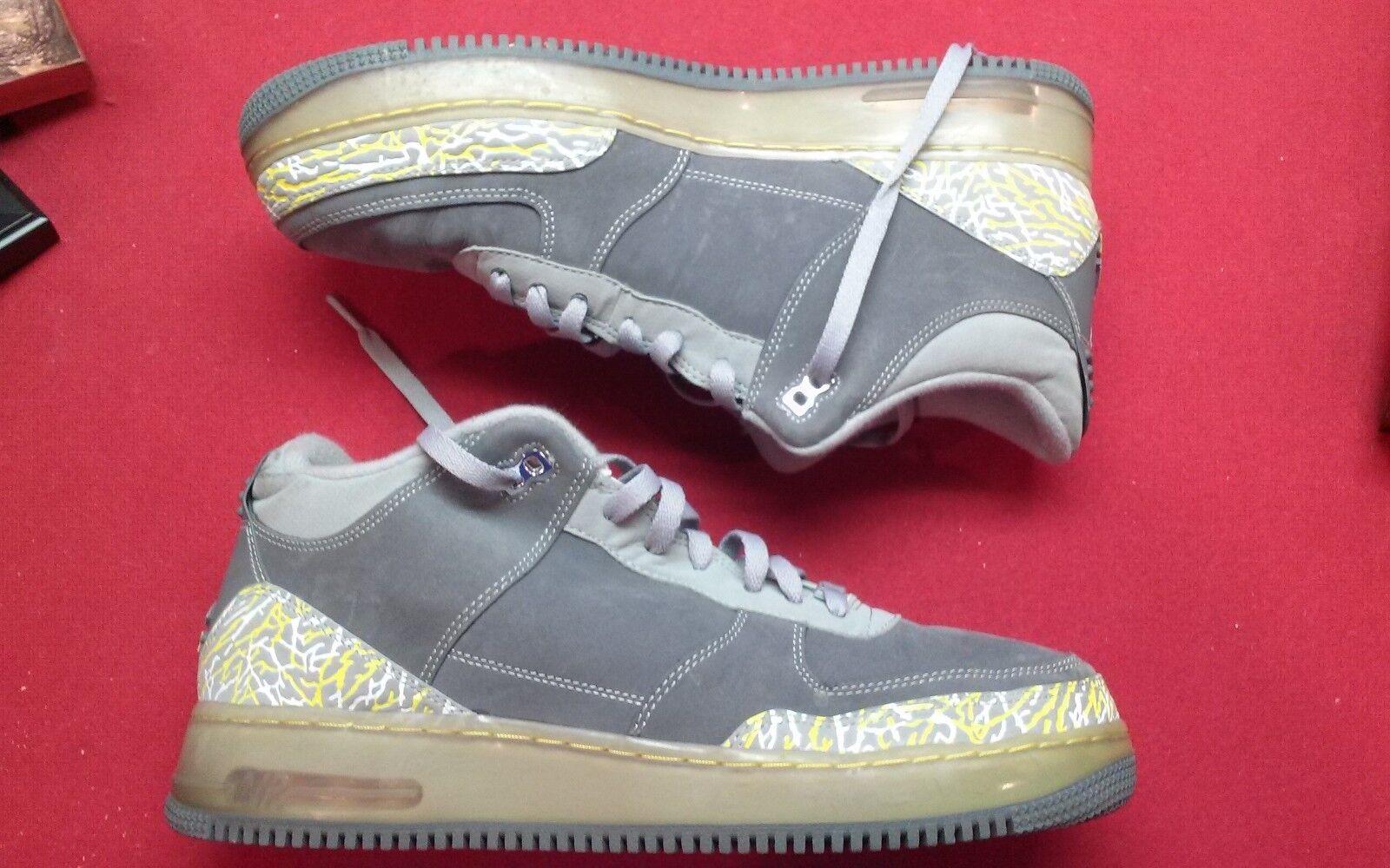 Nike mens air jordan AJF 3 force 3 retro 323626-071 shoes andruw jones shoe COA